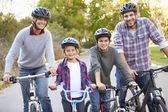 Portrait Of Family On Cycle Ride In Countryside — Stock Photo