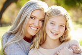Portrait Of Mother And Daughter In Countryside — Stock Photo