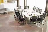 Chairs Arranged Around Empty Boardroom Table — Stock Photo