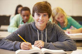 Male High School Student Studying — Stock Photo