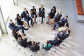 Multi-Cultural Office Staff Applauding During Meeting — Foto Stock