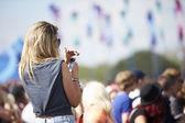 Outdoor Music Festival — Stock Photo