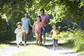 Asian Family Enjoying Walk — Stock Photo