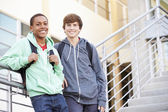 Two Male High School Students — Stock Photo