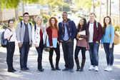 Portrait Of University Students Outdoors On Campus — Stock Photo