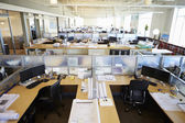 Empty Modern Open Plan Office — Stock Photo