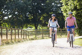 Asian Couple On Cycle Ride — Stok fotoğraf