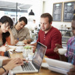 Customers In Busy Coffee Shop — Stock Photo #50474273