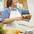 Female Sales Assistant At Checkout Of Farm Shop — Stock Photo #50474953