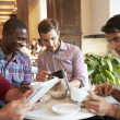 Friends Meeting In Cafe Restaurant — Stock Photo #50475447