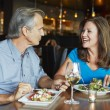 Mature Couple Enjoying Meal At Outdoor Restaurant — Stock Photo #50475875
