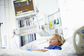 Young Girl Sleeping In Intensive Care Unit — Stock Photo