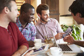 Friends Meeting In Cafe Restaurant — Stock Photo