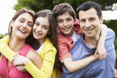 Portrait Of Hispanic Family In Countryside — Stock fotografie