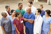 Outdoor Group Shot Of Medical Team — Foto Stock