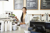 Female Owner Of Coffee Shop — Stock Photo