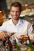 Barman Serving Drinks — Stock Photo