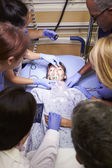 Medical Team Working On Patient In Emergency Room — Stock Photo