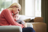 Mother Suffering From Post Natal Depression — Foto Stock