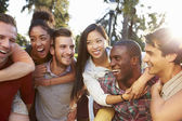 Group Of Friends Having Fun Together Outdoors — Stock Photo