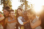 Group Of Friends Having Fun Together Outdoors — Foto de Stock