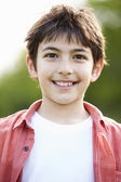Portrait Of Smiling Hispanic Boy In Countryside — Stock Photo