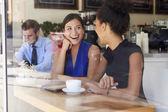 Two Businesswomen Meeting In Coffee Shop — Photo