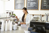 Female Owner Of Coffee Shop — Foto Stock