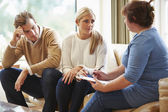 Counselor Advising Couple On Relationship Difficulties — Stockfoto