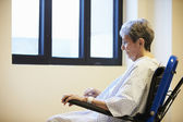 Senior Female Patient Sitting Alone In Wheelchair — Stock Photo