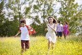 Hispanic Family Walking In Countryside — Stock Photo