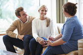 Counselor Advising Couple On Relationship Difficulties — Foto Stock
