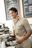 Male Owner Of Coffee Shop — Stock Photo