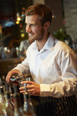 Barman Serving Drinks — 图库照片