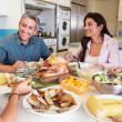 Family  Eating Meal — Stock Photo #50695909