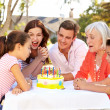 Multi-Generation Family Celebrating Birthday — Stock Photo