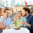 Group Of Friends Eating Meal — Stock Photo #50696111