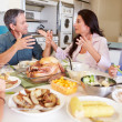 Family Eating Meal — Stock Photo #50696181
