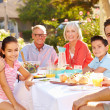 Multi-Generation Family Eating Meal — Stock Photo #50696257