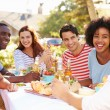 Group Of Friends Enjoying Meal — Stock Photo #50696341