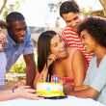 Friends Celebrating Birthday — Stock Photo #50696415