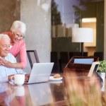 Senior Couple Using Laptop — Stock Photo #50696451