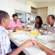 Multi-Generation Family Eating Meal — Stock Photo #50697009