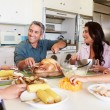 Family Eating Meal — Stock Photo #50697135