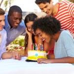 Friends Celebrating Birthday — Stock Photo #50697177