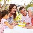 Multi-Generation Family Celebrating Birthday — Stock Photo #50697277