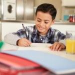 Hispanic Boy Doing Homework — Stock Photo #50697343