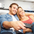 Couple  Watching Television — Stock Photo #50697465