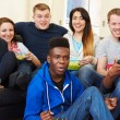 Friends Watching Television — Stock Photo #50697529