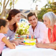 Multi-Generation Family Celebrating Birthday — Stock Photo #50697785